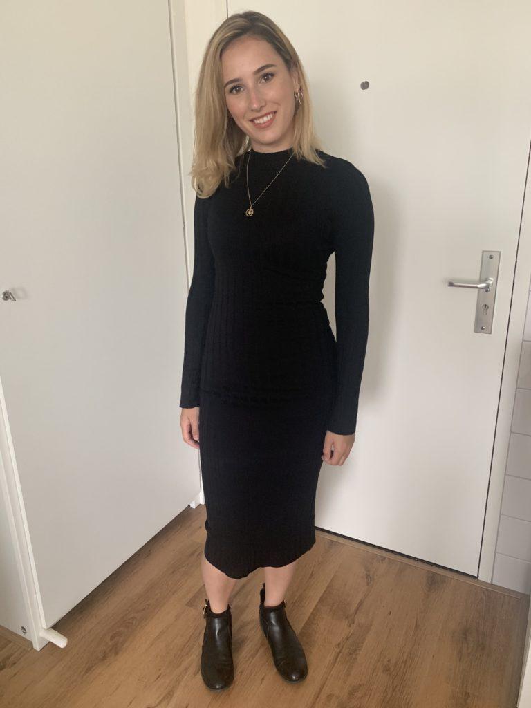 zwarte jurk H&M