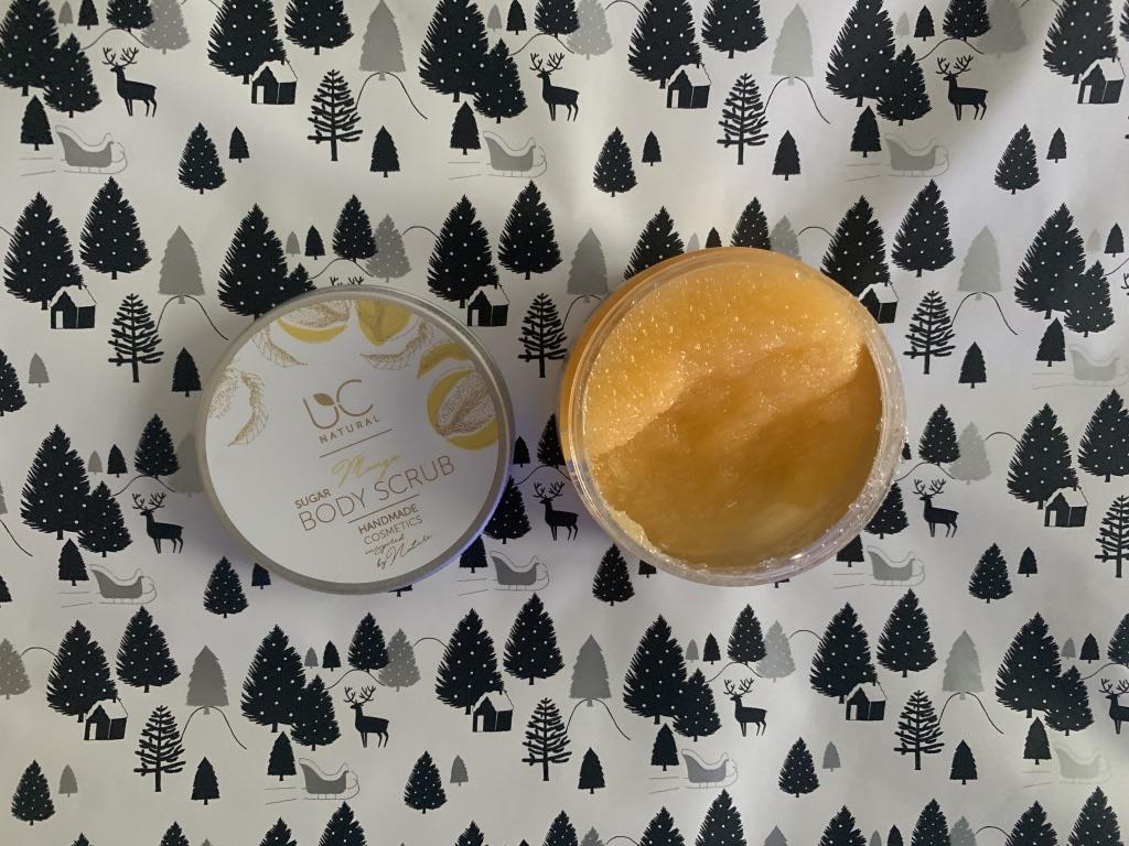 uc natural mango sugar body scrub